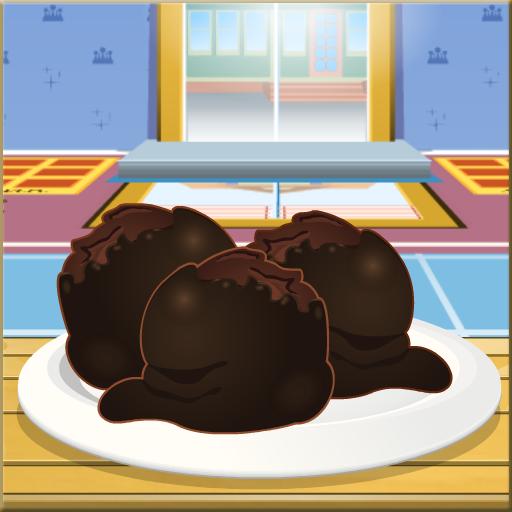 Chocolate Cake Balls Cooking