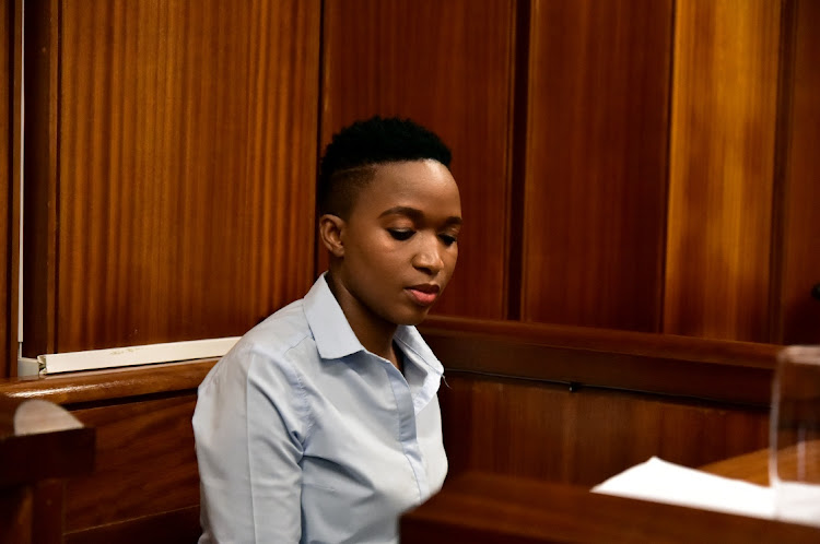 State witness Andisiwe Dike in the Port Elizabeth high court for the trial of Timothy Omotoso.