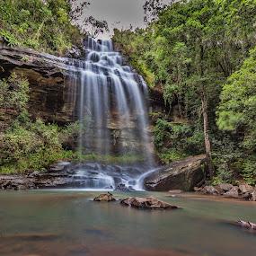 Sunday Falls - Drakensberg by Morne Kotze - Landscapes Waterscapes