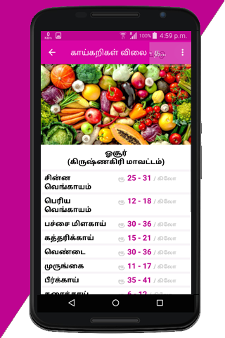 Tamilnadu Daily Vegetable Prices screenshot 8