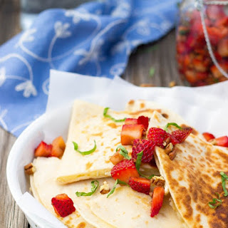 Brie Cheese Quesadillas with Strawberry Salsa