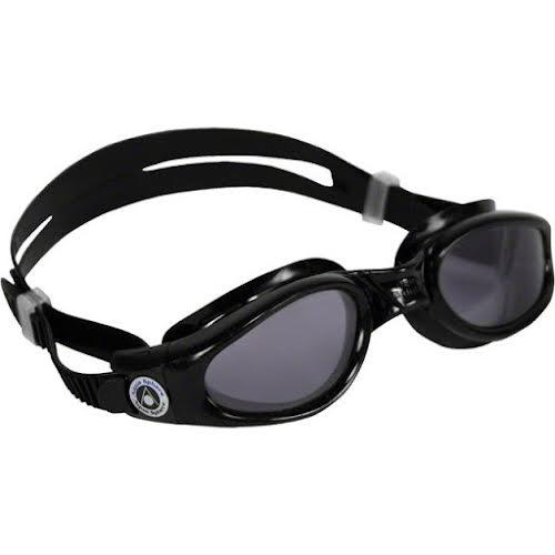 Aqua Sphere Kaiman Goggles: Black with Smoke Lens