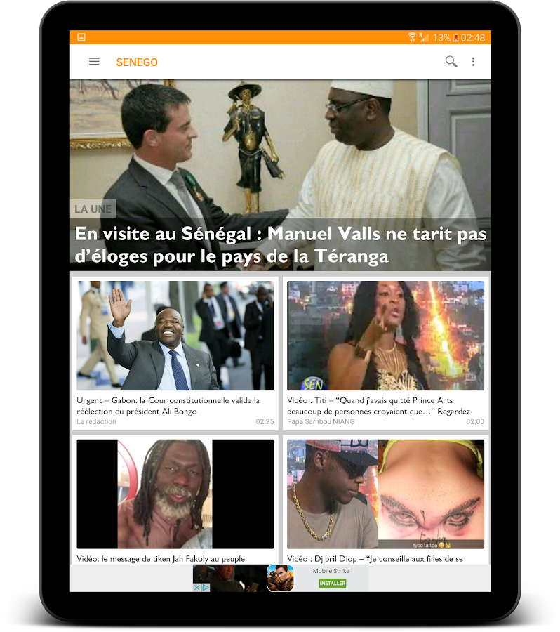 Senego: News in Senegal- screenshot