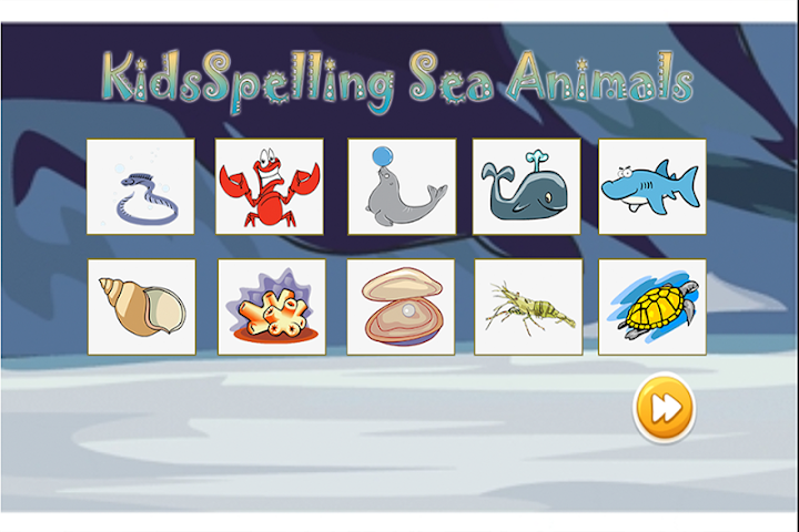 android Spelling Words Sea Animal Screenshot 6