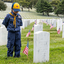 Honoring or fallen! by Craig Turner - Babies & Children Children Candids ( memorial day, golden gate national cematary, golden gate national cemetery, patterns, flags, graves, boats, crab cooker, crabs, san francisco, head stones )