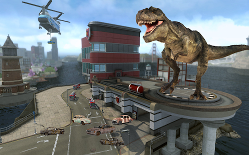 Download Dinosaur Hunting 2017: City Attack Survival Game For PC Windows and Mac apk screenshot 1
