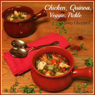Chicken, Quinoa, Veggie, Pickle Soup Chopped