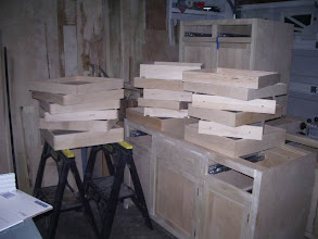 Photo: The first batch of drawers & trays...