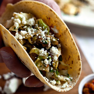 Soft Tacos With Mushrooms and Cabbage
