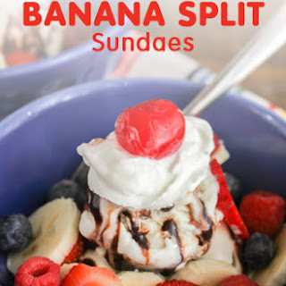 Individual Banana Split Sundaes