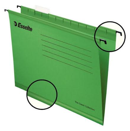Hängmapp förstärkt Classic A4 Grön