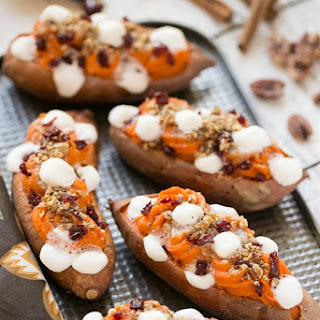 Loaded Twice Baked Sweet Potatoes