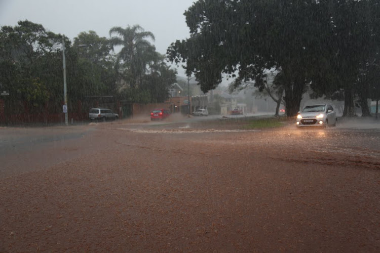 Flooded streets in Durban on Tuesday. Despite the KZN receiving a staggering 784mm of rainfall, water restrictions for Durban and its neighbouring towns remain effective.