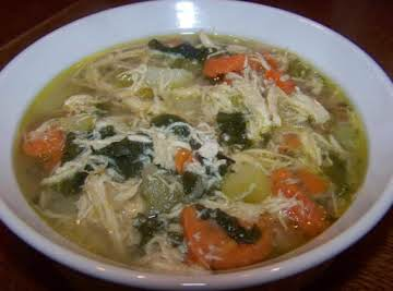 Rosemary Chicken and Spinach soup