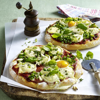 Egg and Goat Cheese Pizzas