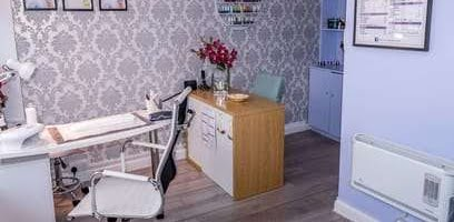 the office of a beauty salon