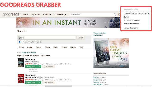 Goodreads grabber