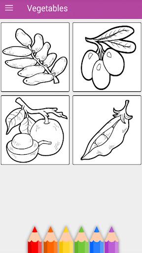 Kids Vegetables & Fruits Coloring Book 1.11.1 screenshots 4