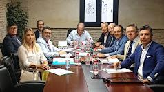 Gema Martínez junto a representantes de los farmacéuticos del resto de provincias andaluzas.
