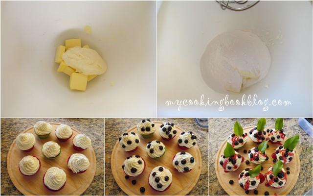Боровинкови кексчета с маскарпоне