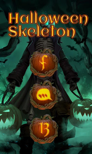 玩免費個人化APP|下載Halloween Skeleton GO Launcher app不用錢|硬是要APP