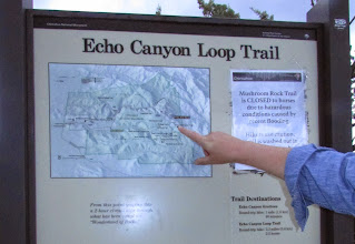 Photo: Map of Eco Canyon Loop Trail.