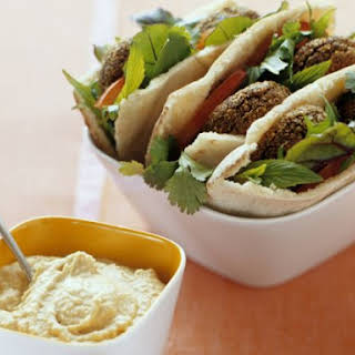 Chickpea Falafel with Hummus.