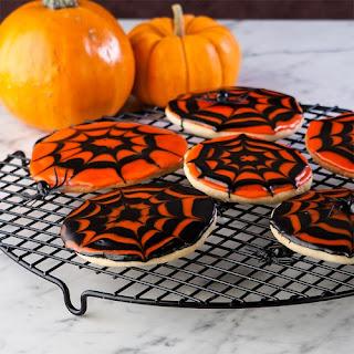 Halloween Half Moon & Spooky Spidey Cookies