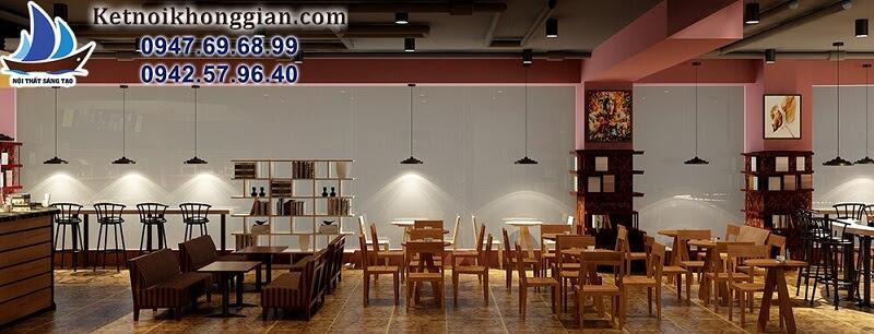 thiết kế quán cafe sách hoành tráng