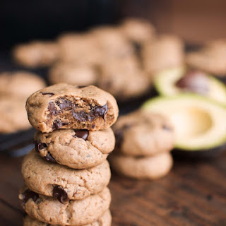 Vegan Peanut Butter Chocolate Chip Avocado Cookies