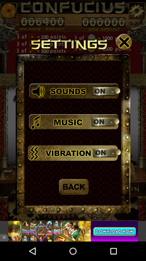 Confucius Slot Machine- screenshot