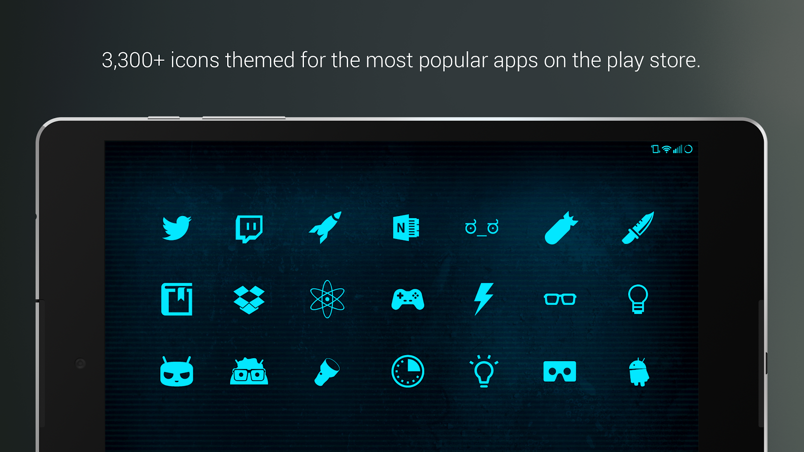 Pip tec blue icons live wall android apps on google play for Picture on wall app