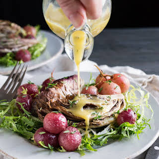 Roasted Radicchio with Grapes Side Dish.