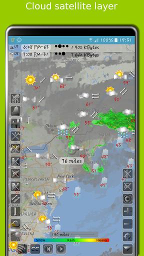 NOAA radar with weather alerts - eMap HDF Apk 2