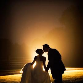 Bridal Night shot by Pete Bristo MBE  - Wedding Bride & Groom