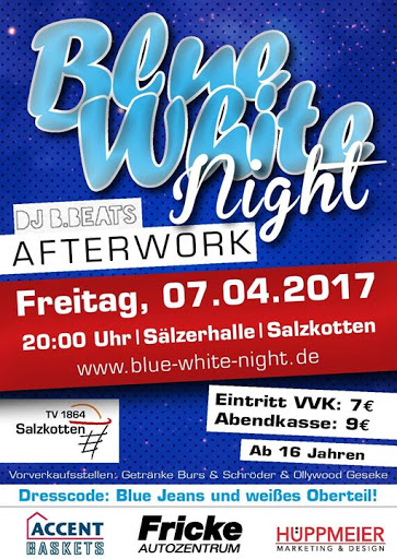 Blue-White-Night am Freitag in der Sälzerhalle