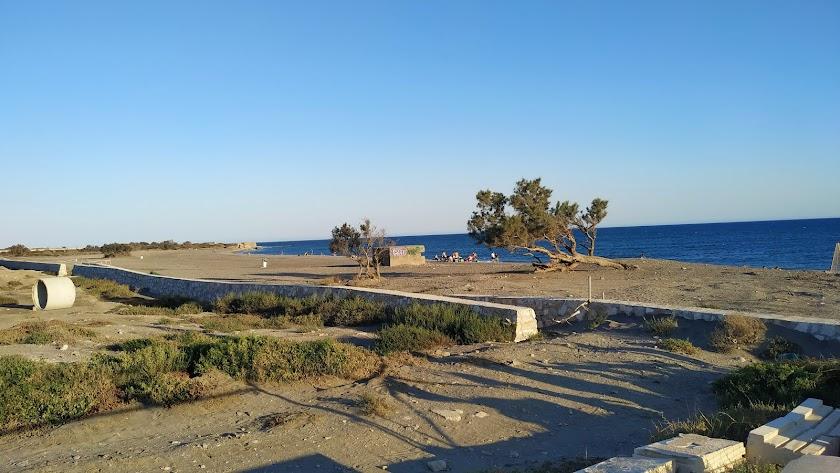 Zona en la que quedó a medias las obras de ampliación del paseo marítimo