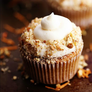 Carrot Cake Cupcakes with White Chocolate Cream Cheese Frosting Recipe