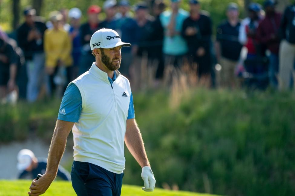 Dustin Johnson hasn't played since he finished in a tie for sixth at the U.S. Open last month. File Photo by Corey Sipkin/UPI