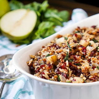 Cranberry Pear Spinach Rice Pilaf Recipe