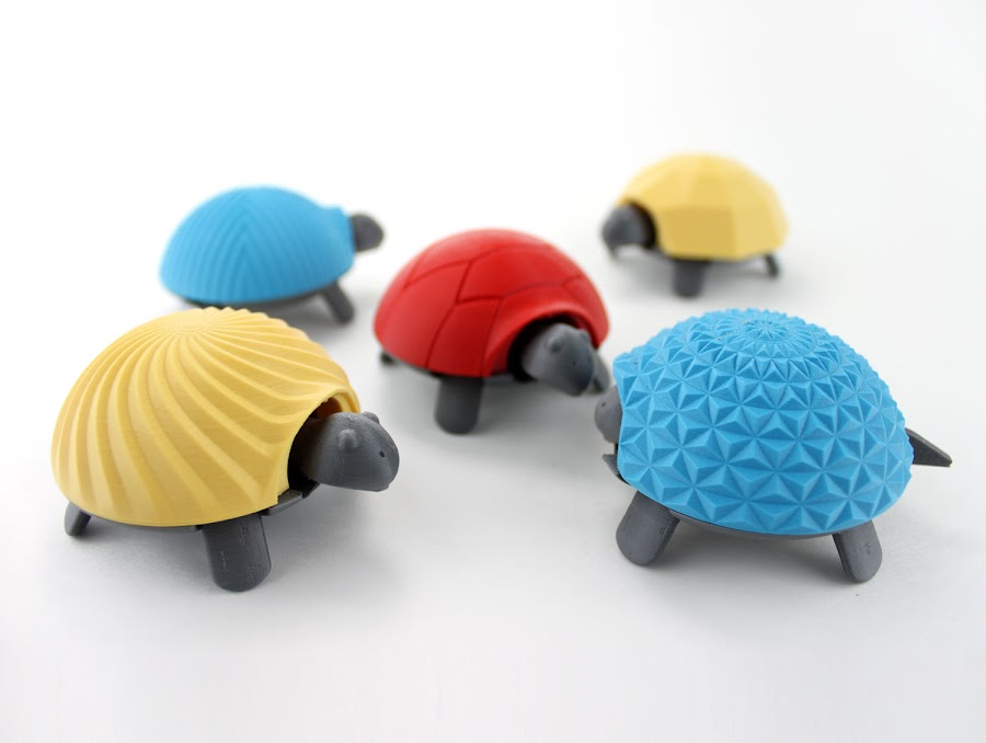 Squishy Turtles with Various Shells