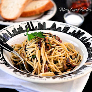 Chitarra w/ Mixed Olive sauce