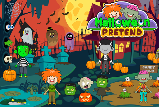 My Pretend Halloween - Trick or Treat Town Friends 1.5 screenshots 1