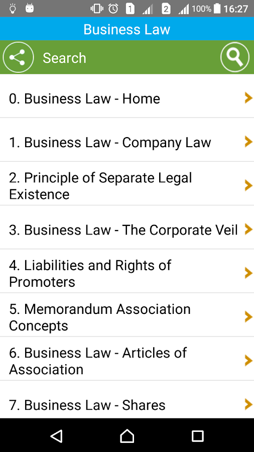 Learn Business Law- screenshot