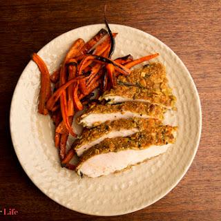 Pumpkin Seed Crusted Chicken.