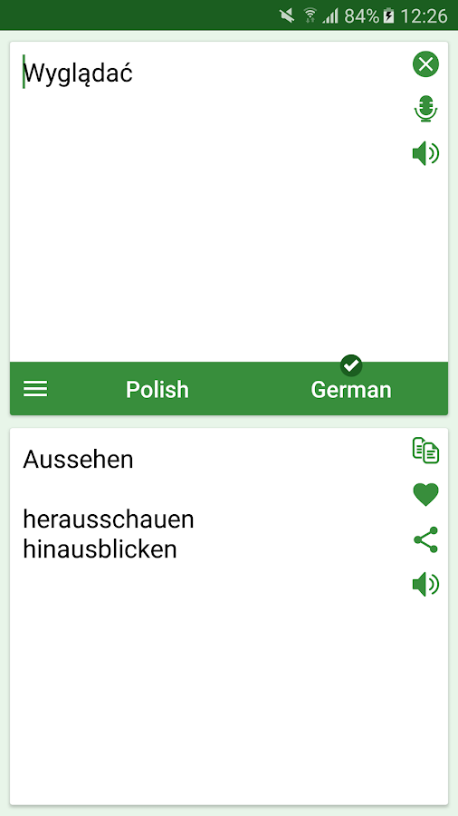 polish german translator android apps on google play. Black Bedroom Furniture Sets. Home Design Ideas