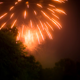 Kaboom3 by Joshua Clifford - Abstract Fire & Fireworks ( big, color, boom, celebrate, line, night, fireworks, outdoor, explosion, celebration, colour, outdoors, light, explode, outside, event, celebrating, lines, lights, park )