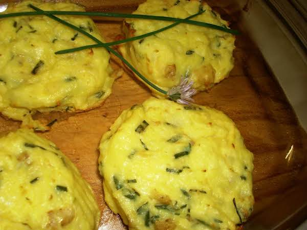 Mashed Potato Bake W/chevre And Fresh Chives Recipe