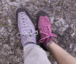 Photo: Climbing shoes - Purple was the only color they had in my size.