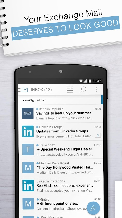 Email Exchange + by MailWise- screenshot
